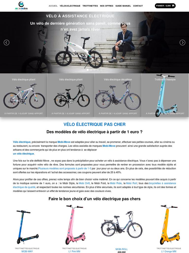 velo electrique 1 euro par jour