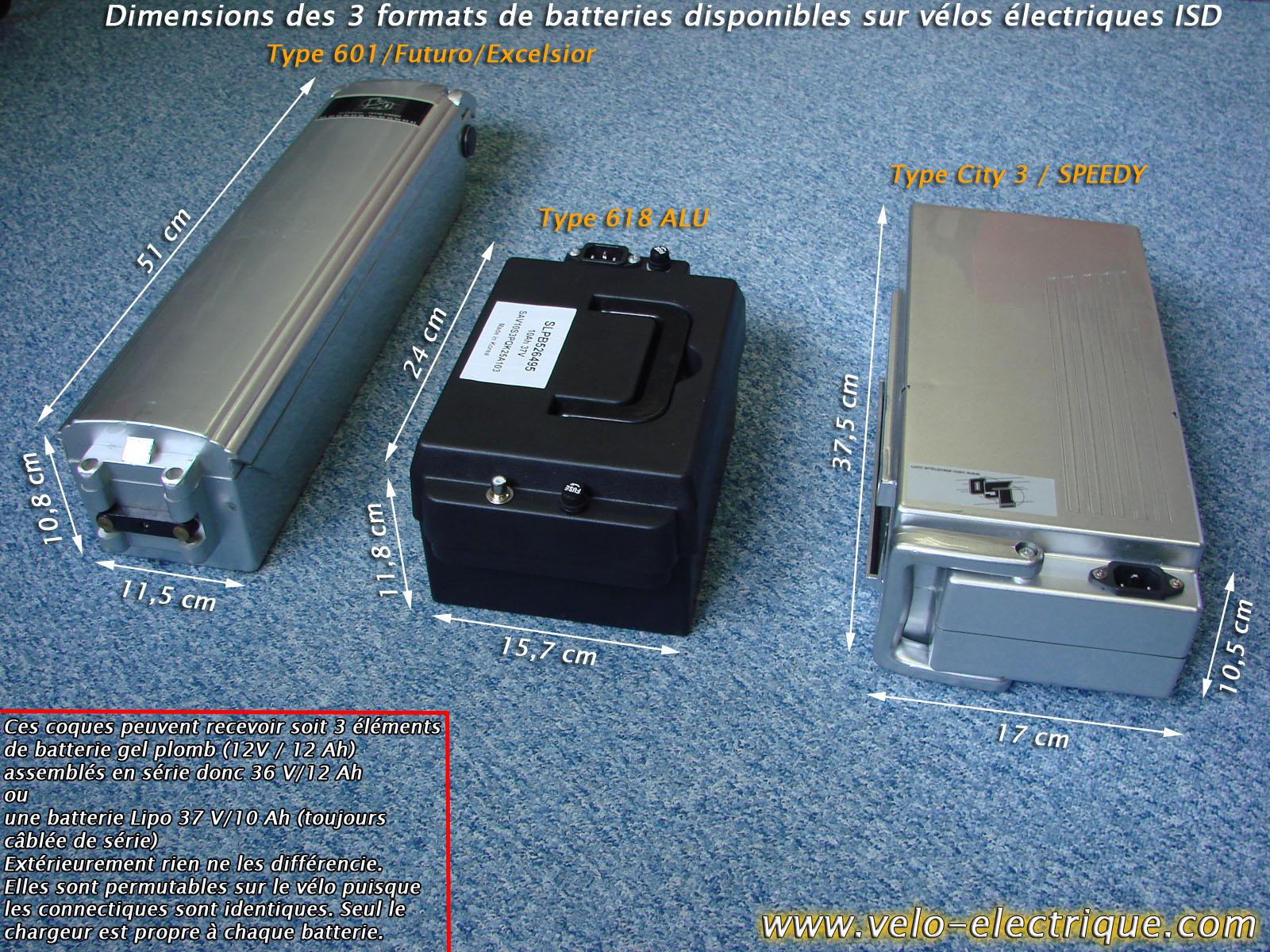velo electrique quelle batterie